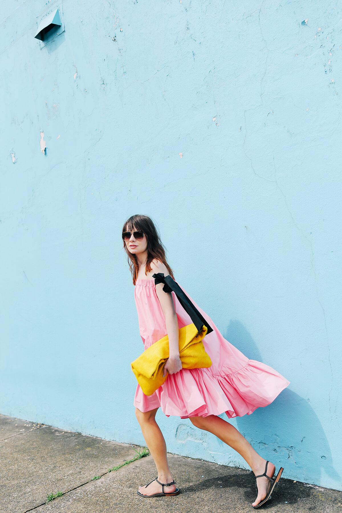 pink msgm dress