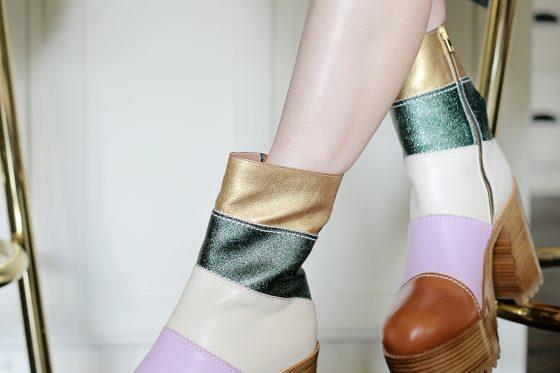 SHOE LOVE-Patchwork Marni Platform Boots