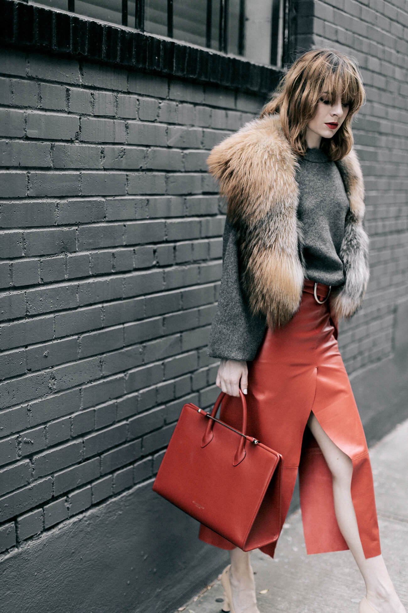Red Leather at Sea of Shoes