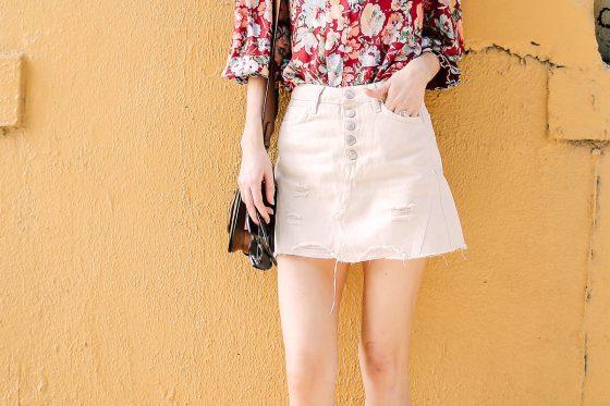 Summer Essential: the White Denim Mini